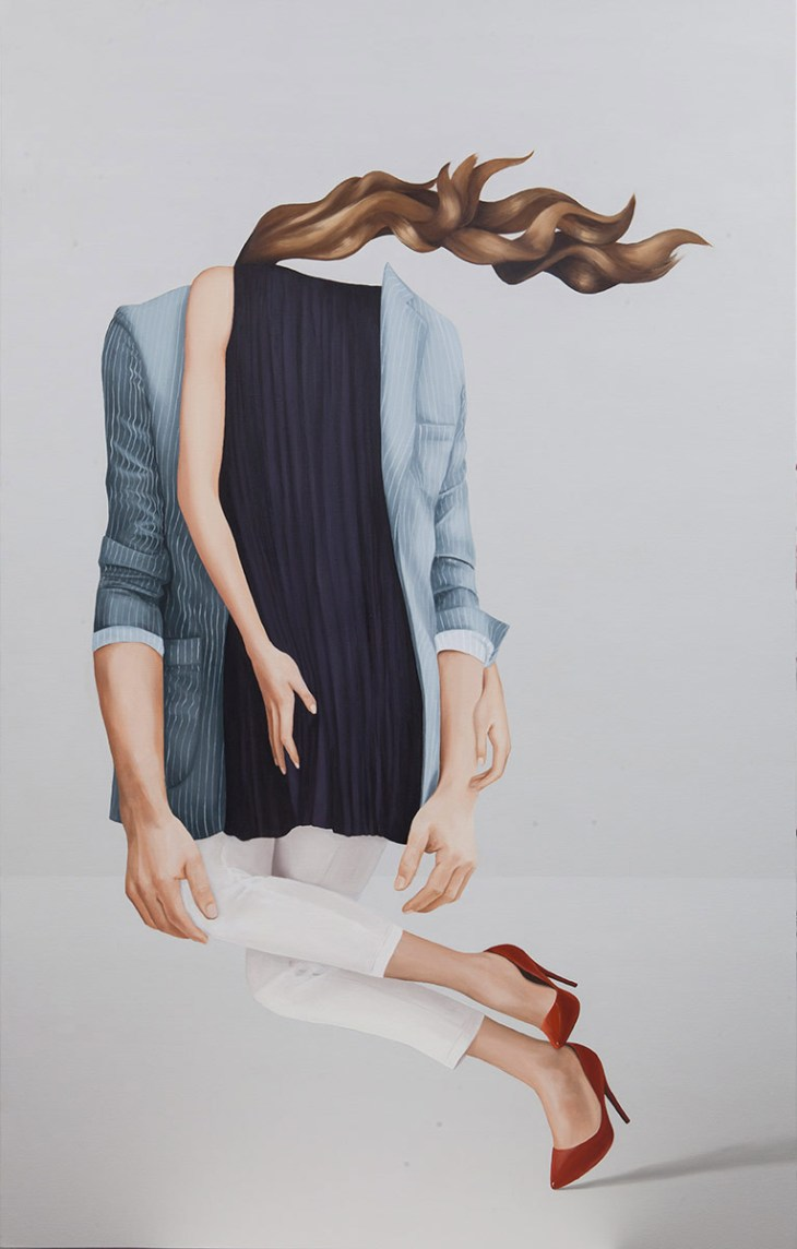 The surreal paintings of Eda Gecikmez characterize the daily grind of the corporate employee