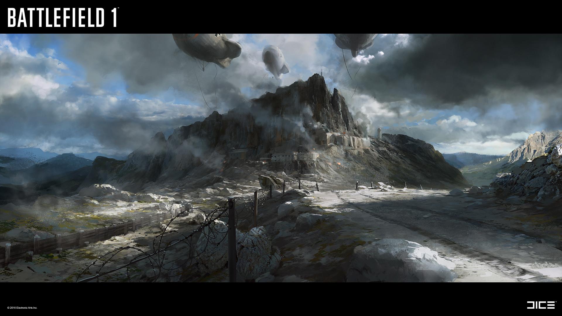 Battlefield 1 Concept Art by Robert Sammelin