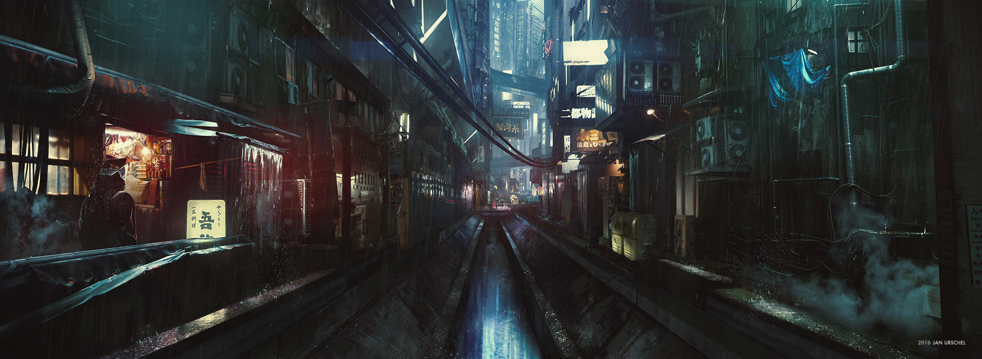 Ghost in the Shell Concept Art by Jan Urschel
