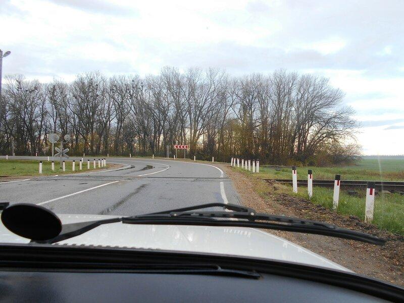 В дороге, утро, у переезда ... DSCN1772.JPG