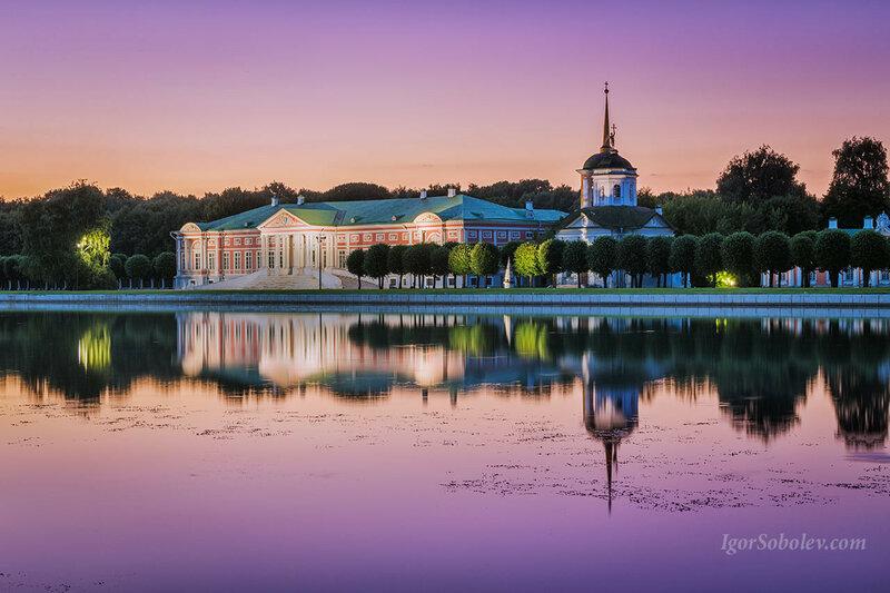 Парк Кусково на закате
