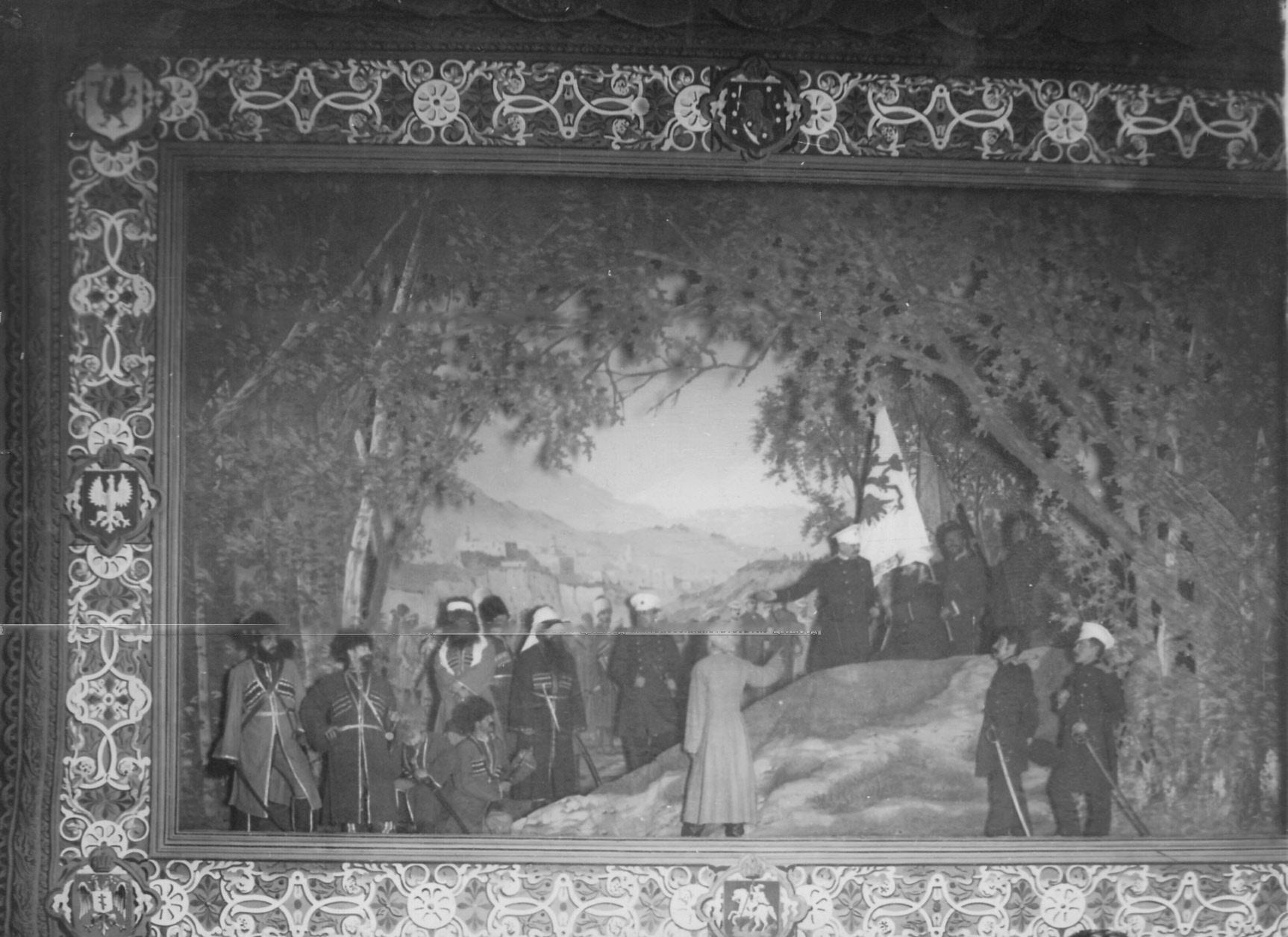 16. «Пленение Шамиля» - сцена из постановки живых исторических картин