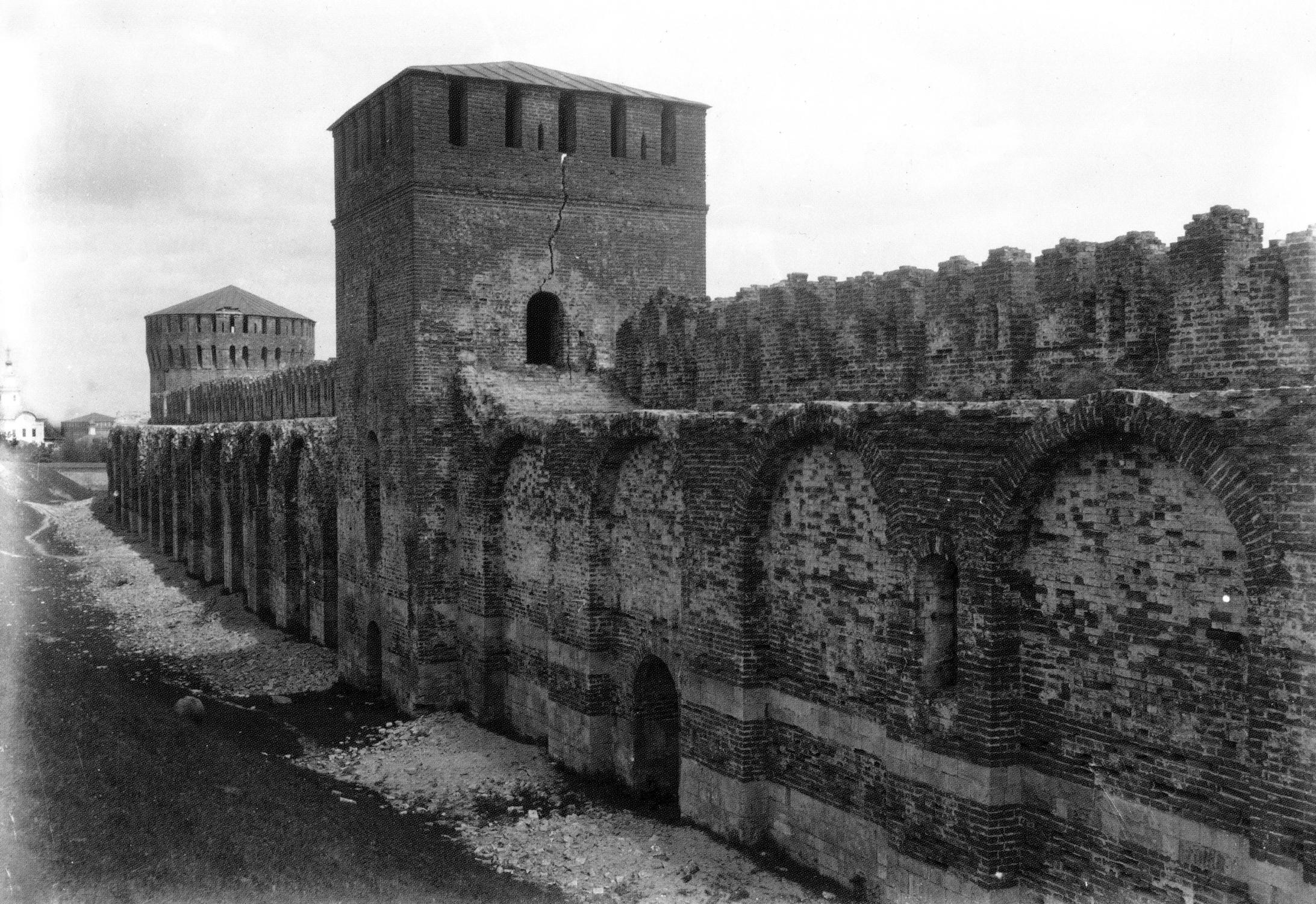 Башни Долгочевская и Зимбулка. 1889