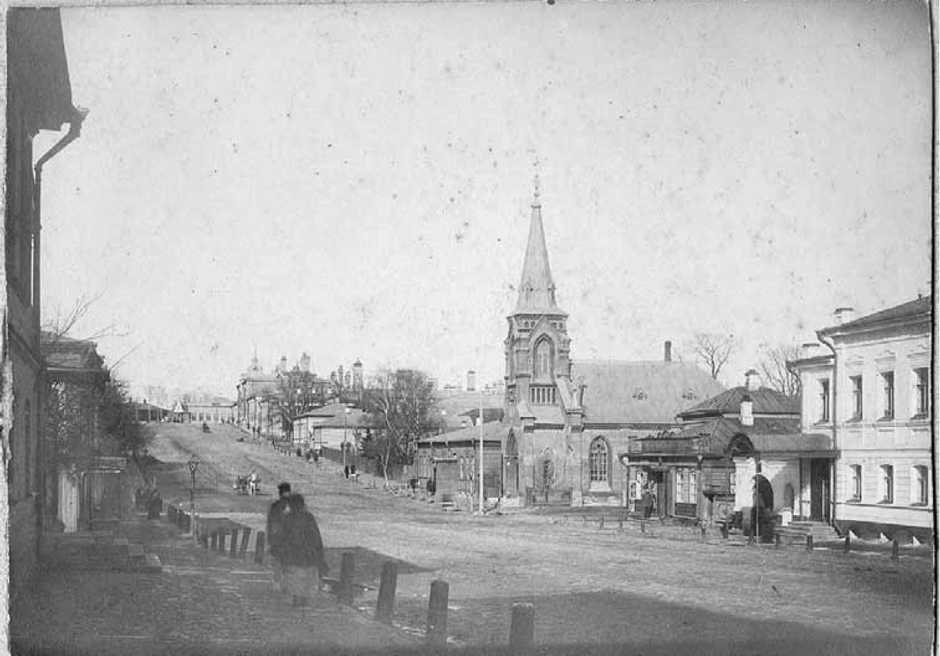 Дворянская улица. Вид с востока на Студеную гору. Конец XIX в.