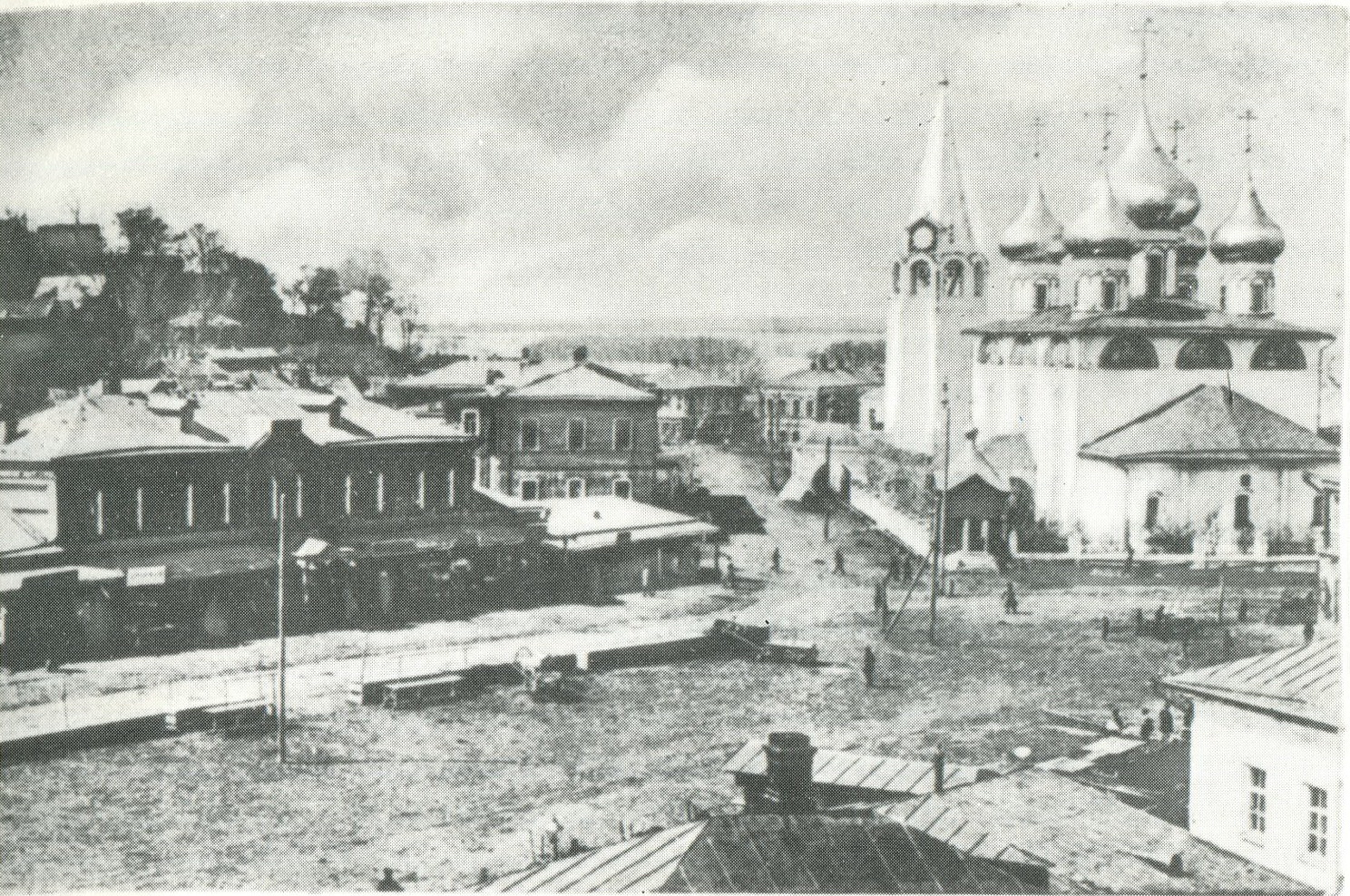 Вид на Благовещенский собор от дома Ширяевых