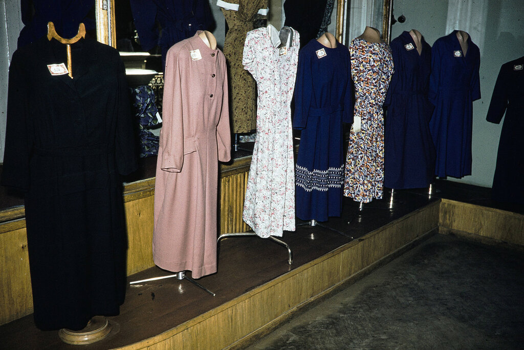 Russia, dress display at store in Moscow