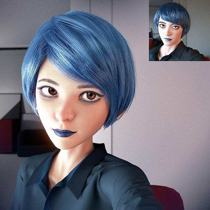 Pessoas sao transformadas em personagens de desenho animado pelo artista Lance Phan