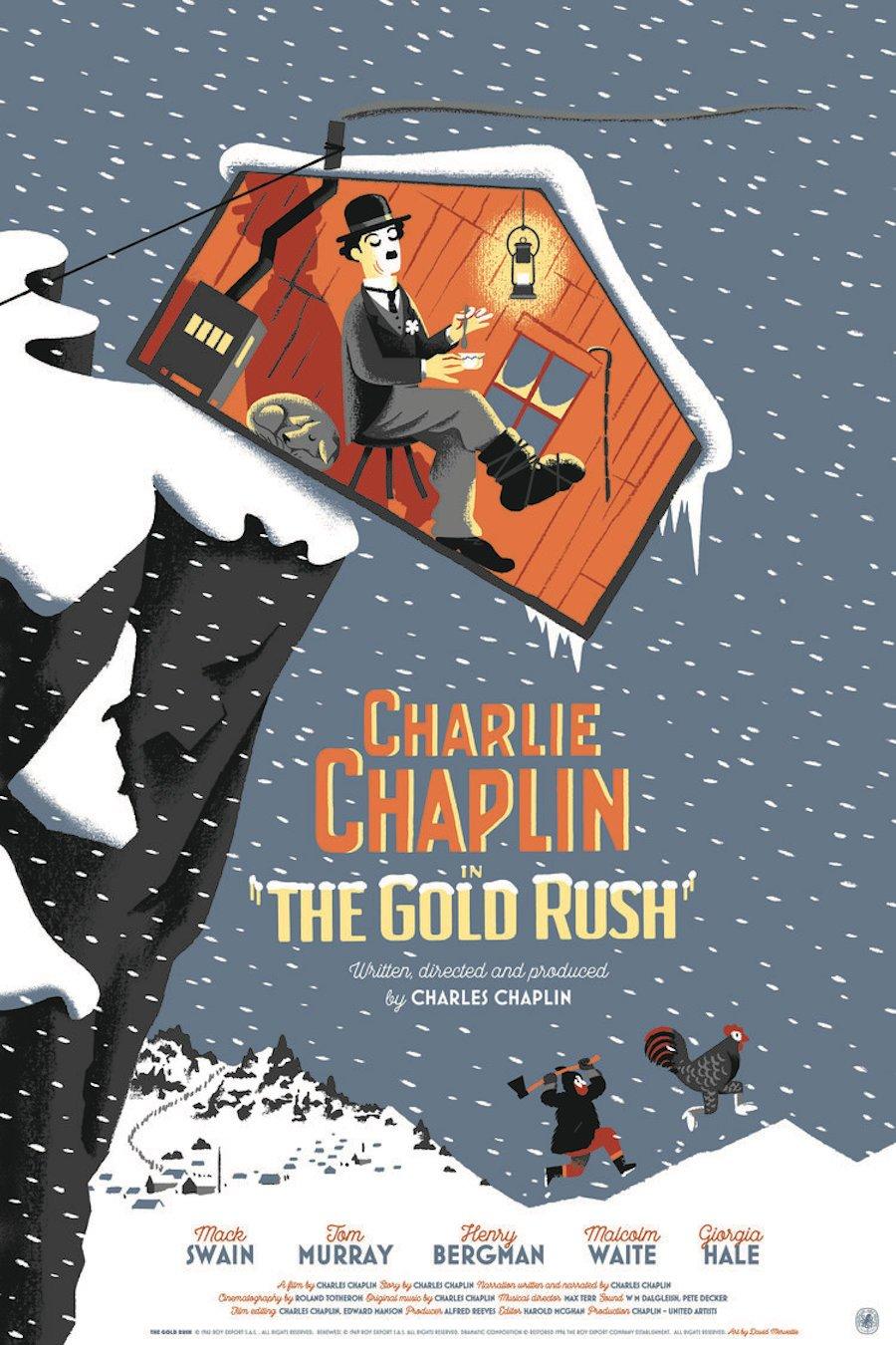 Famosos filmes de Charlie Chaplin se tornaram lindas ilustracoes