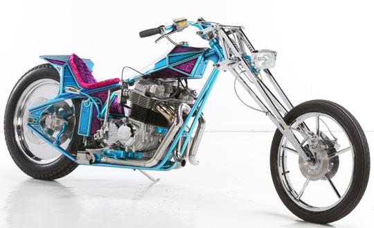 Royal Custom Works: диггер Honda 750 Pink Diamond