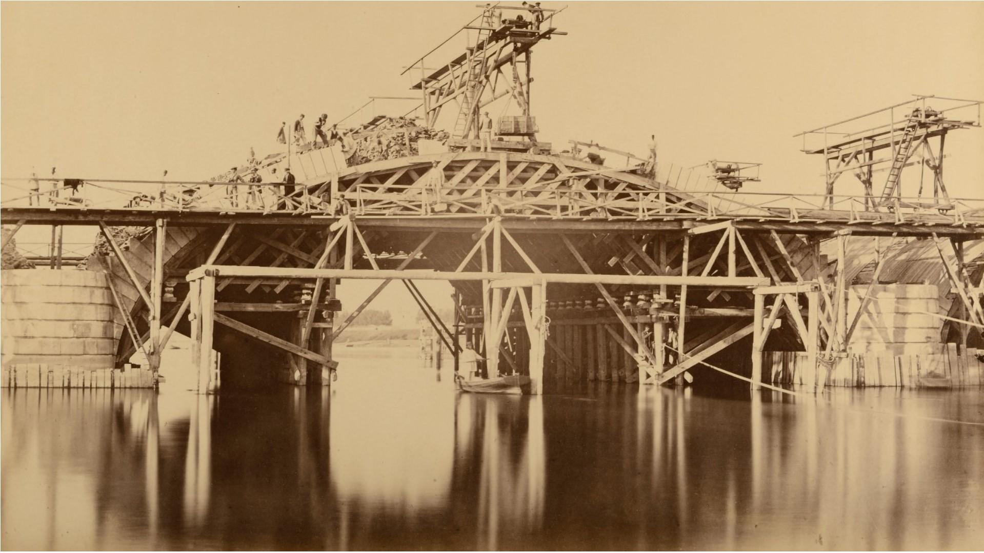1862. Париж. Строительство моста Луи-Филиппа