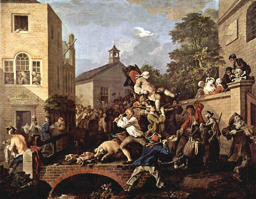 Триумф депутатов Хогарт-1755