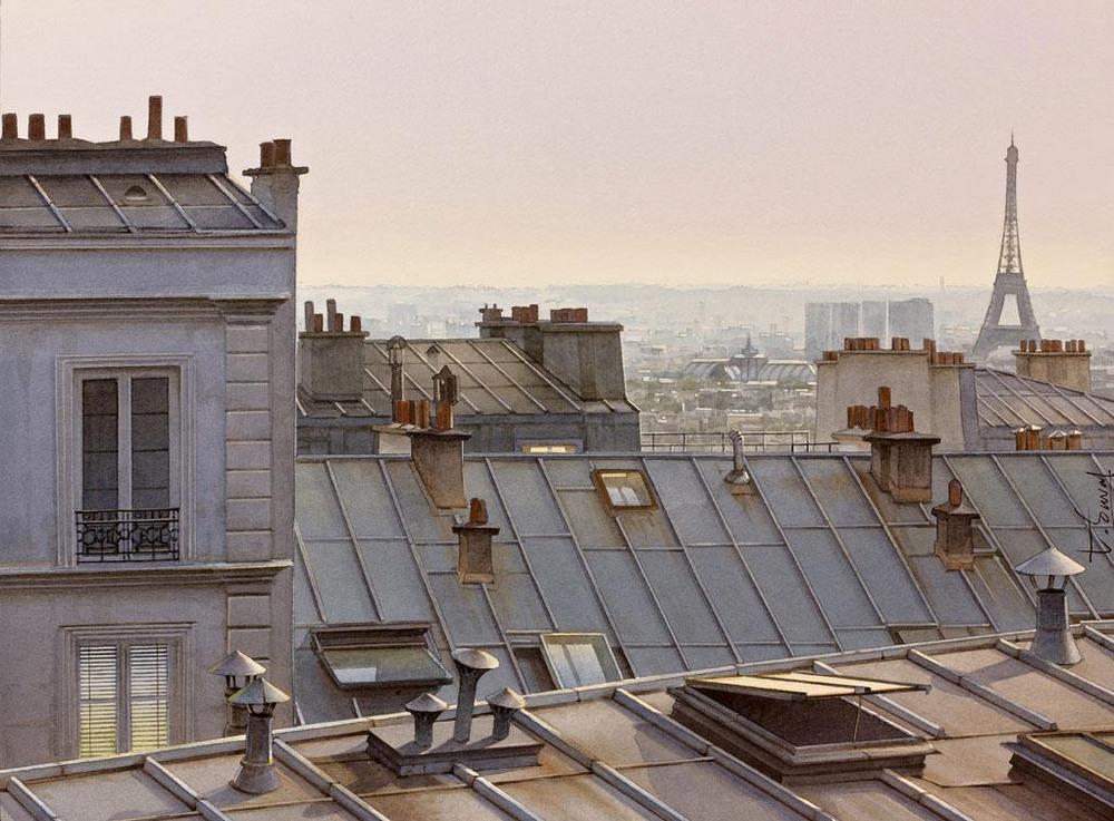 Париж на картинах художник Thierry Duval