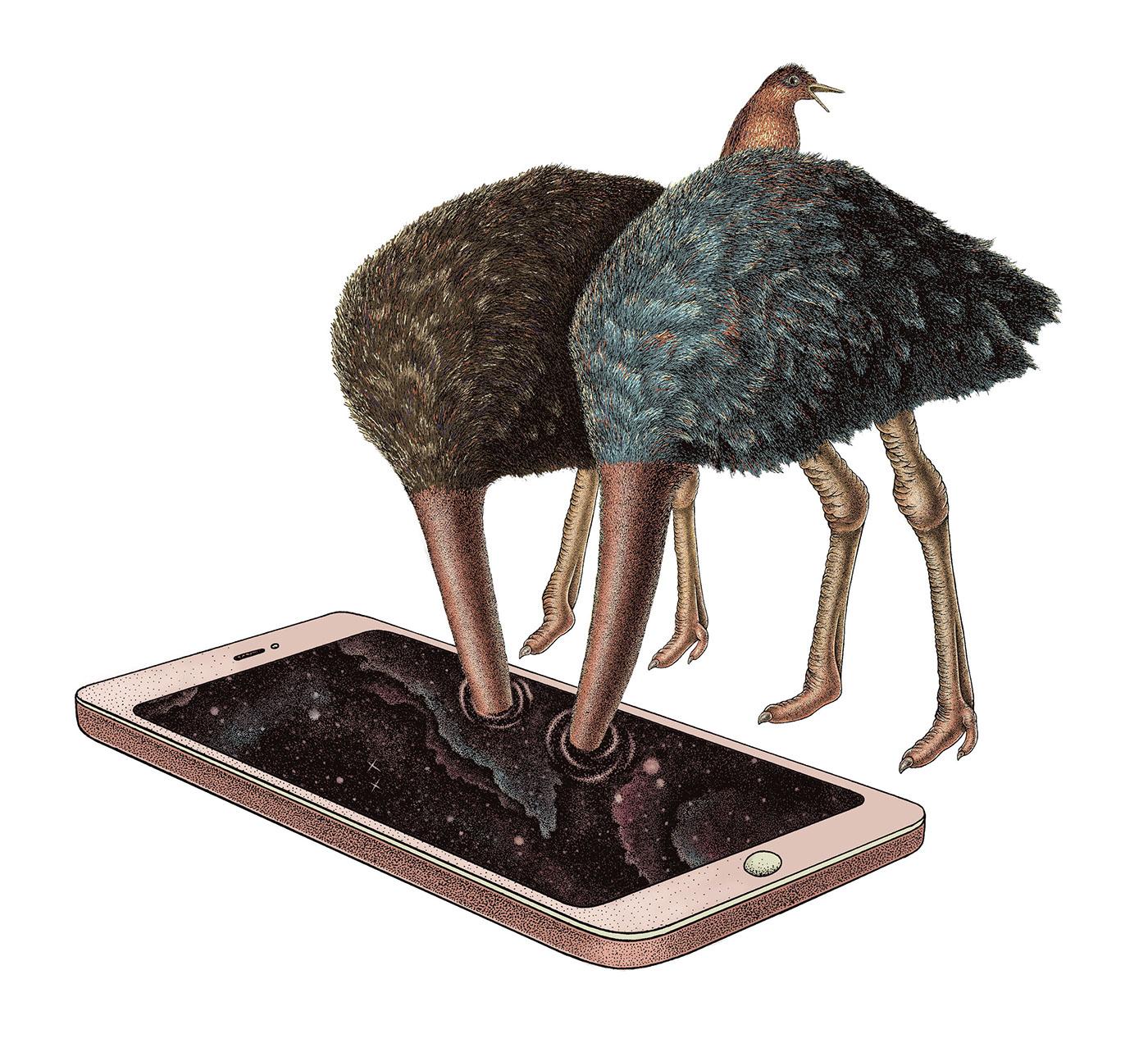 Smartphone vs books / работы Dzmitryi Kashtalyan