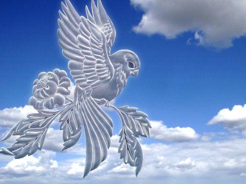 День работника стекольной промышленности. Птица на цветке открытки фото рисунки картинки поздравления