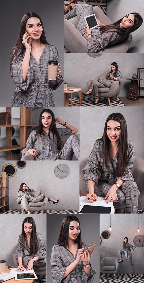 Стильная женщина - Клипарт / Beautiful woman - Clipart