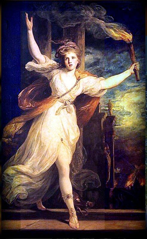 Таис поджигает Персеполь. Картина Джошуа Рейнольдса, 1781 г..jpg