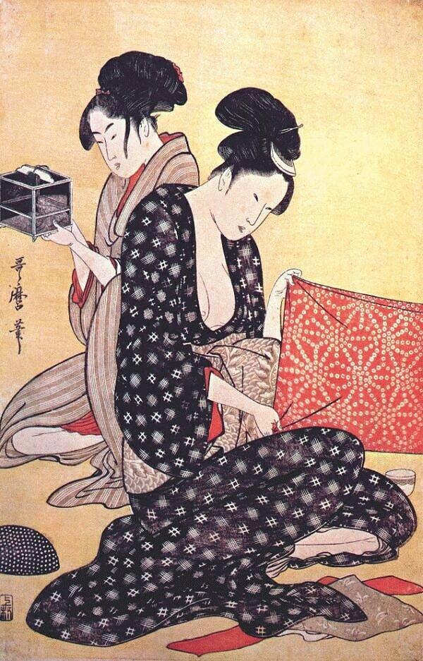 Батик в японских гравюрах