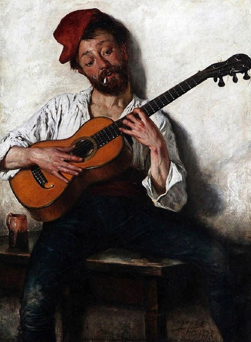 Guitar player , 1878