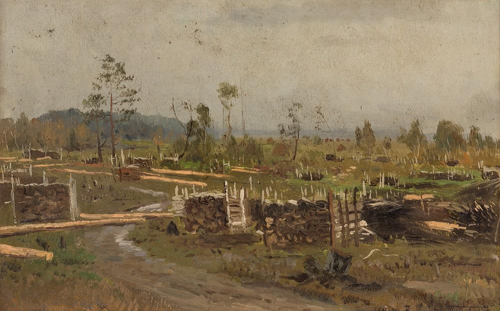 Na porubya (At the Felling), 1896.