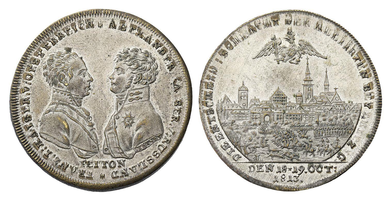 Настольная медаль «В память битвы при Лейпциге. 1813 г.»