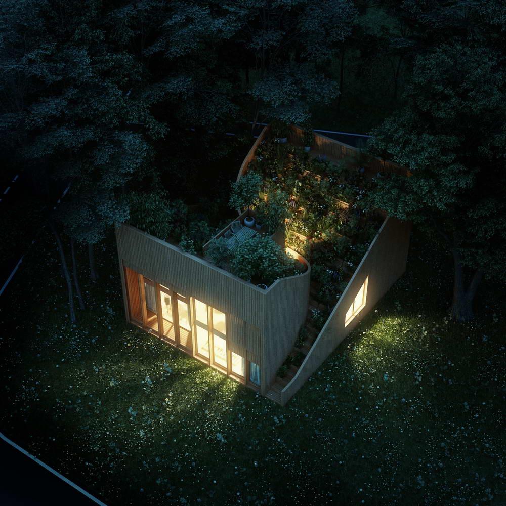 Дом в Германии с огородом на крыше