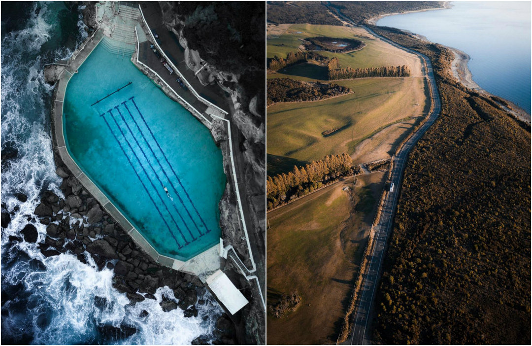Aerial photographs of Matt Pridl