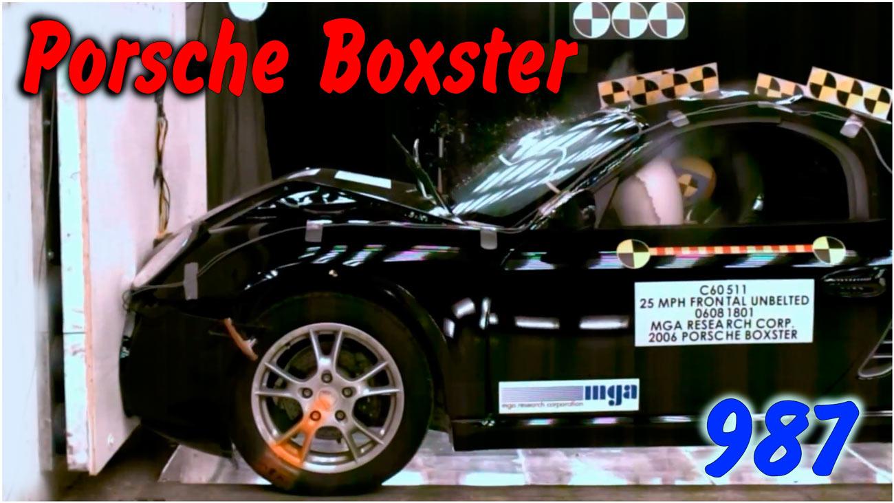 Фронтальный краш тест Porsche Boxster 987