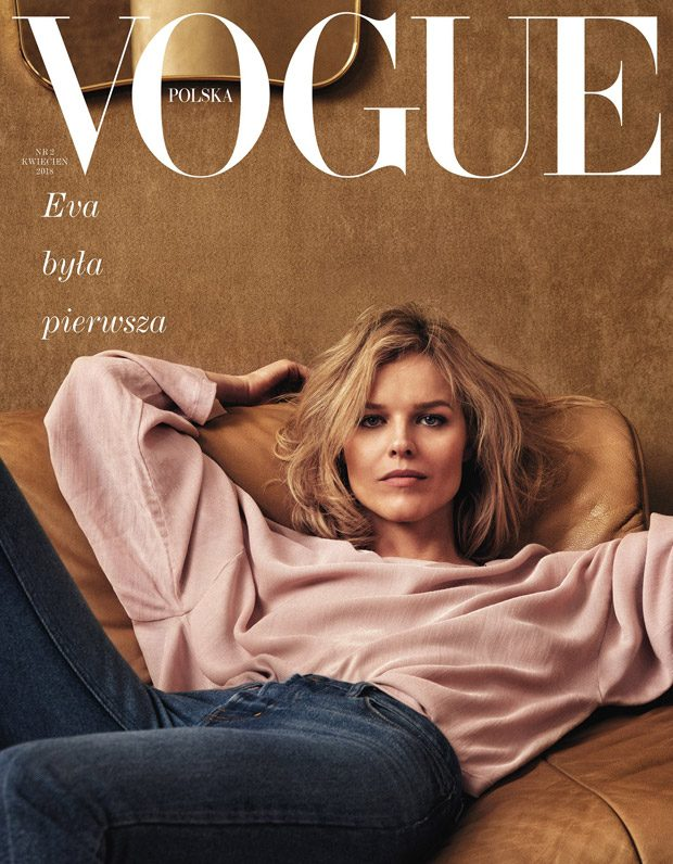 Supermodel Eva Herzigova Covers Vogue Poland April 2018 Issue (1 pics)