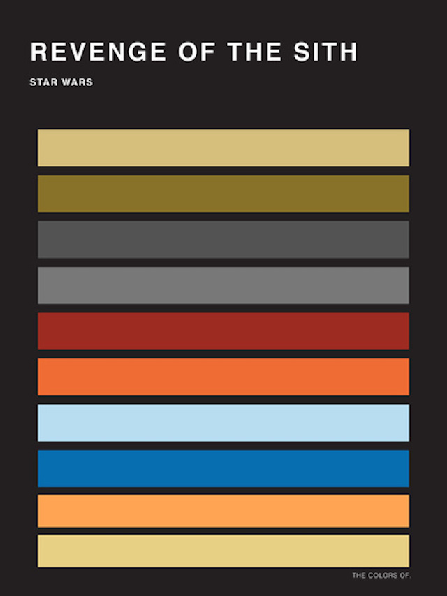 The Colors of Star Wars Palettes