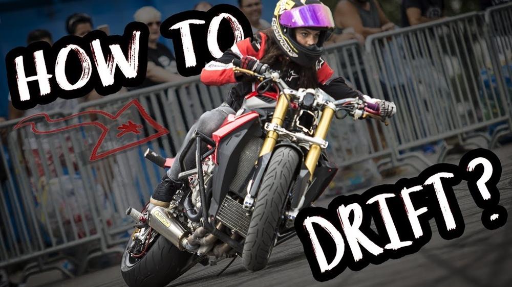 Сара Лезито. Как дрифтовать на мотоцикле (видео)