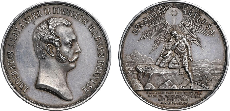 Настольная медаль «В Память 700-летия введения Христианства в Финляндии. 1857 г.»