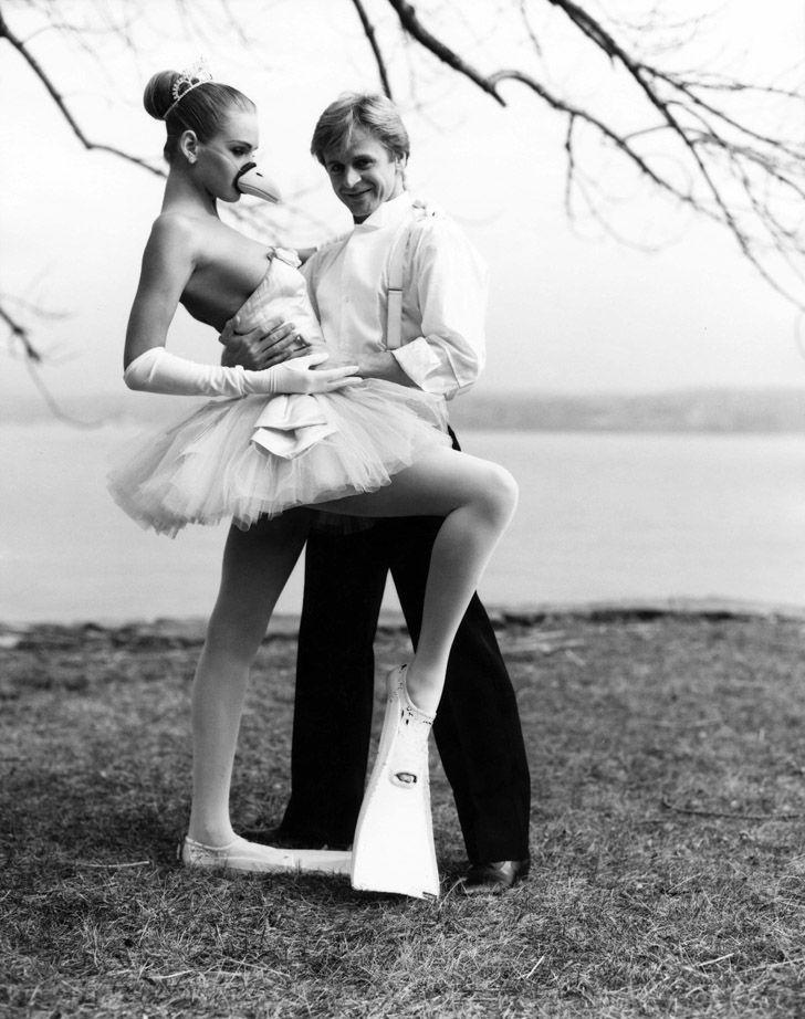 11. 1987 год, Михаил Барышников и 17-летняя Ума Турман на фото Артура Элгерта