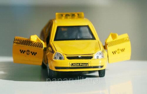 Машинка металлическая Лада такси