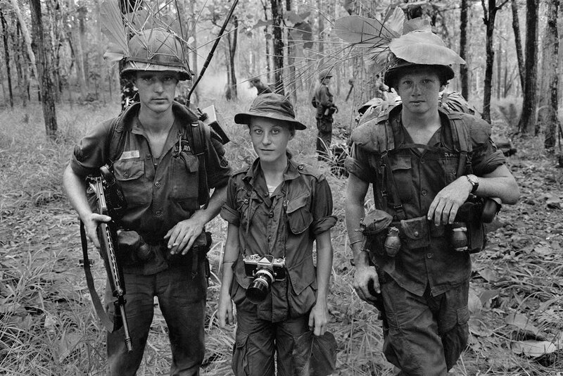Catherine Leroy during the Vietnam War.