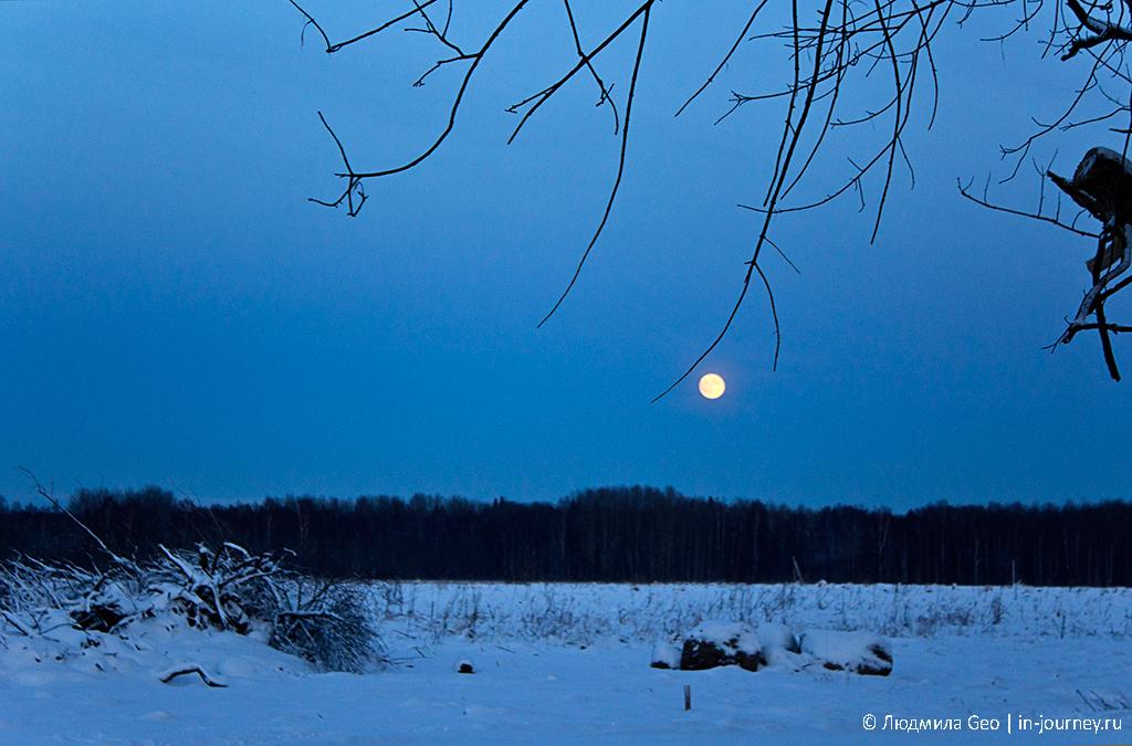 лунный пейзаж рядом с крепостью Копорье