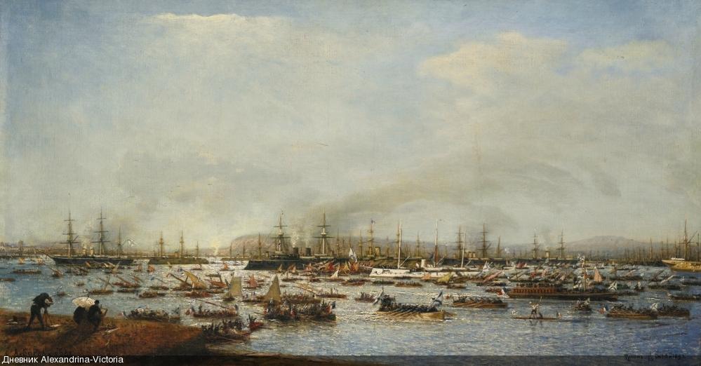 Вход российского флота в гавань Тулон , 1893 г.