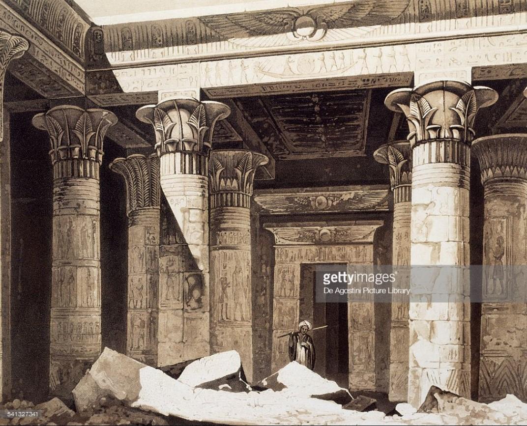 1841. Филе. Портал в Храм Исиды на острове Филе