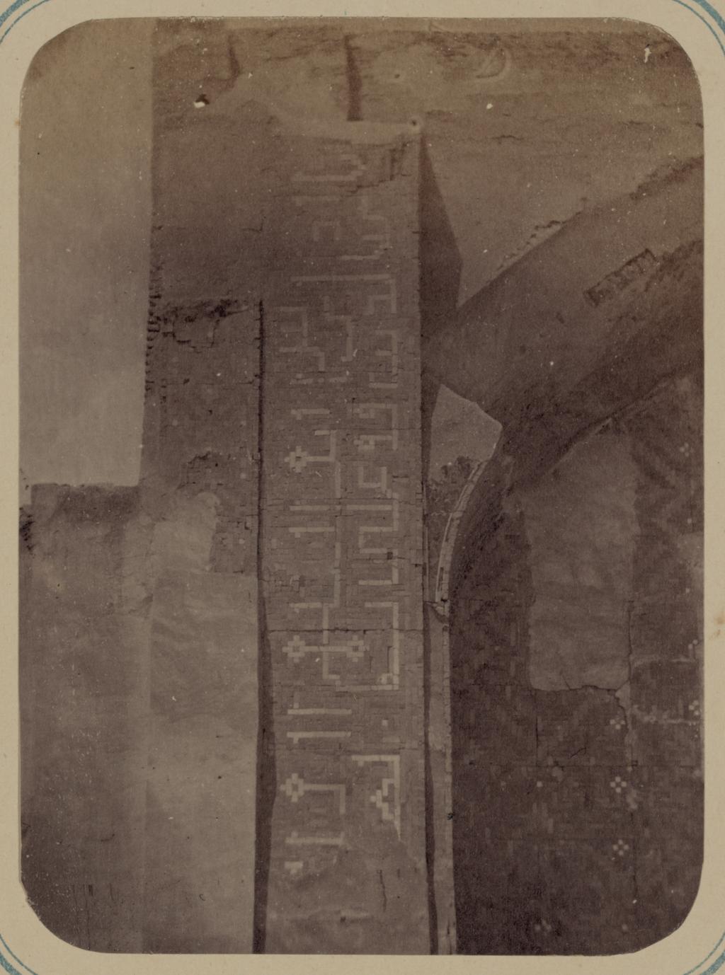 Медресе Надир Диван-Беги. Надписи по сторонам главной ниши северного фасада