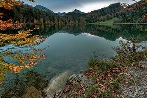 Горное озеро Алатзее (Германия, Бавария)