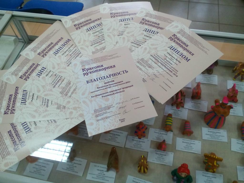 11 апреля 2018 года в выставочном зале «АРТРУМ» города Рязани состоялось подведение итогов II областного конкурса-выставки по декоративно-прикладному искусству «Красота рукотворная»