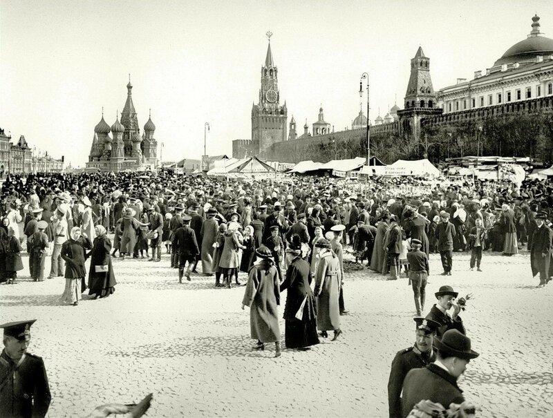 Вербный торг на Красной площади_1913