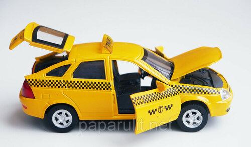 Машинка металлическая Lada Priora такси