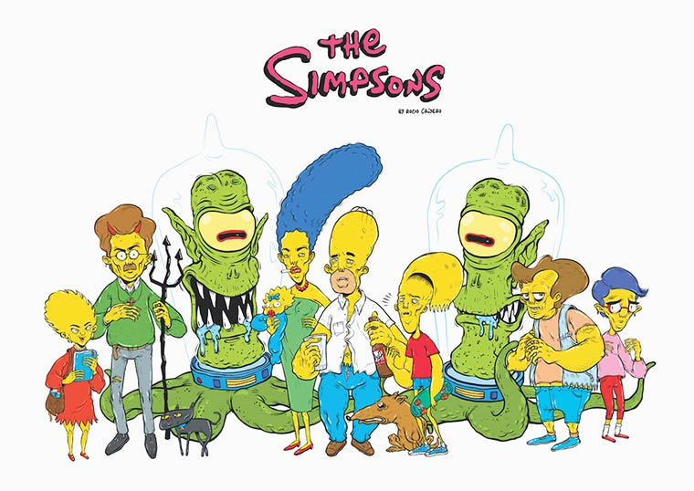The Simpsons – The illustrations of R. Canero