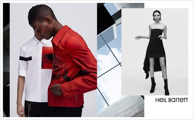 Neil Barrett SS18 Feat. Charlee Fraser, Rachide Embalo & Asmir Besic (4 pics)