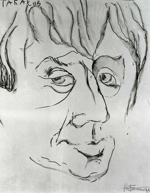 Олег Табаков, рисунок Юрия Богатырева