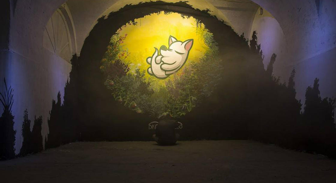 The street art of Dingo Perromudo offers us a nice breath of greenery