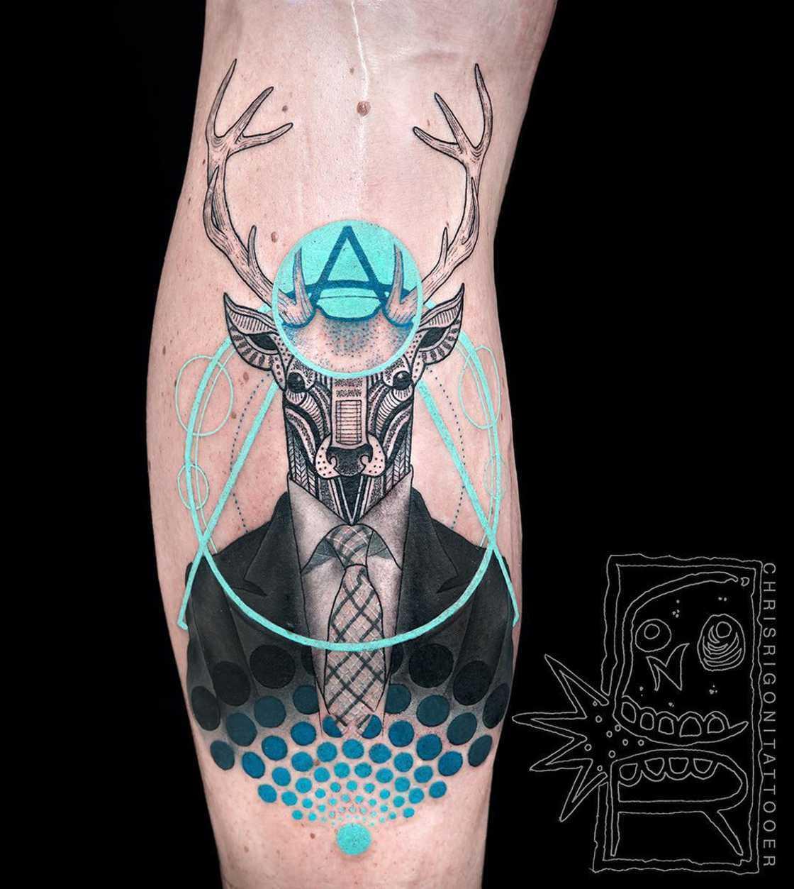 As tatuagens ultracoloridas de Chris Rigoni