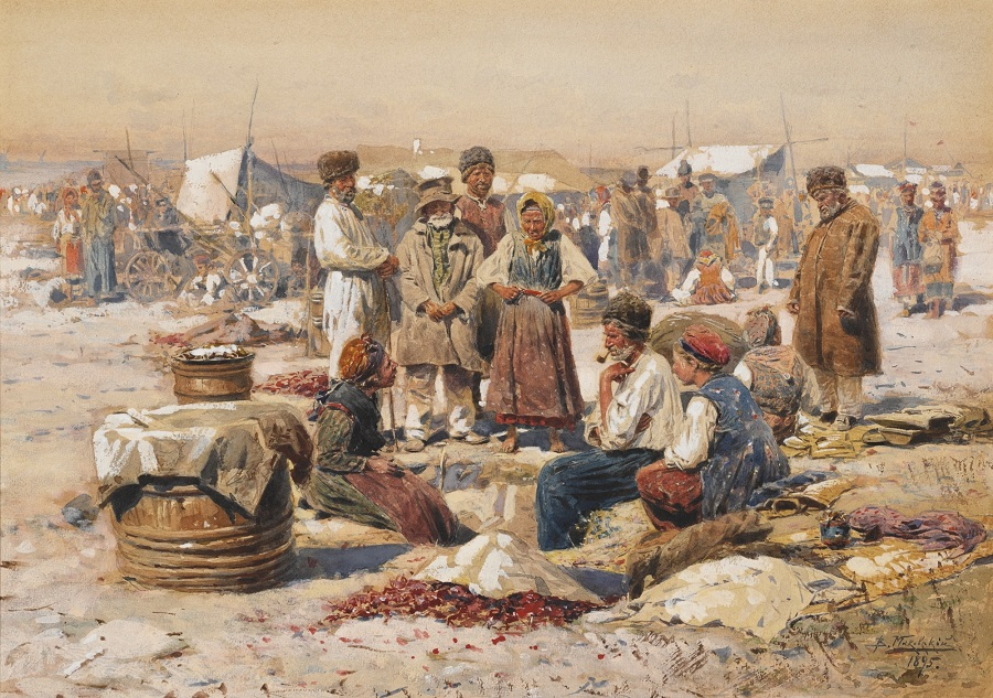 A COUNTRY MARKET , 1895.