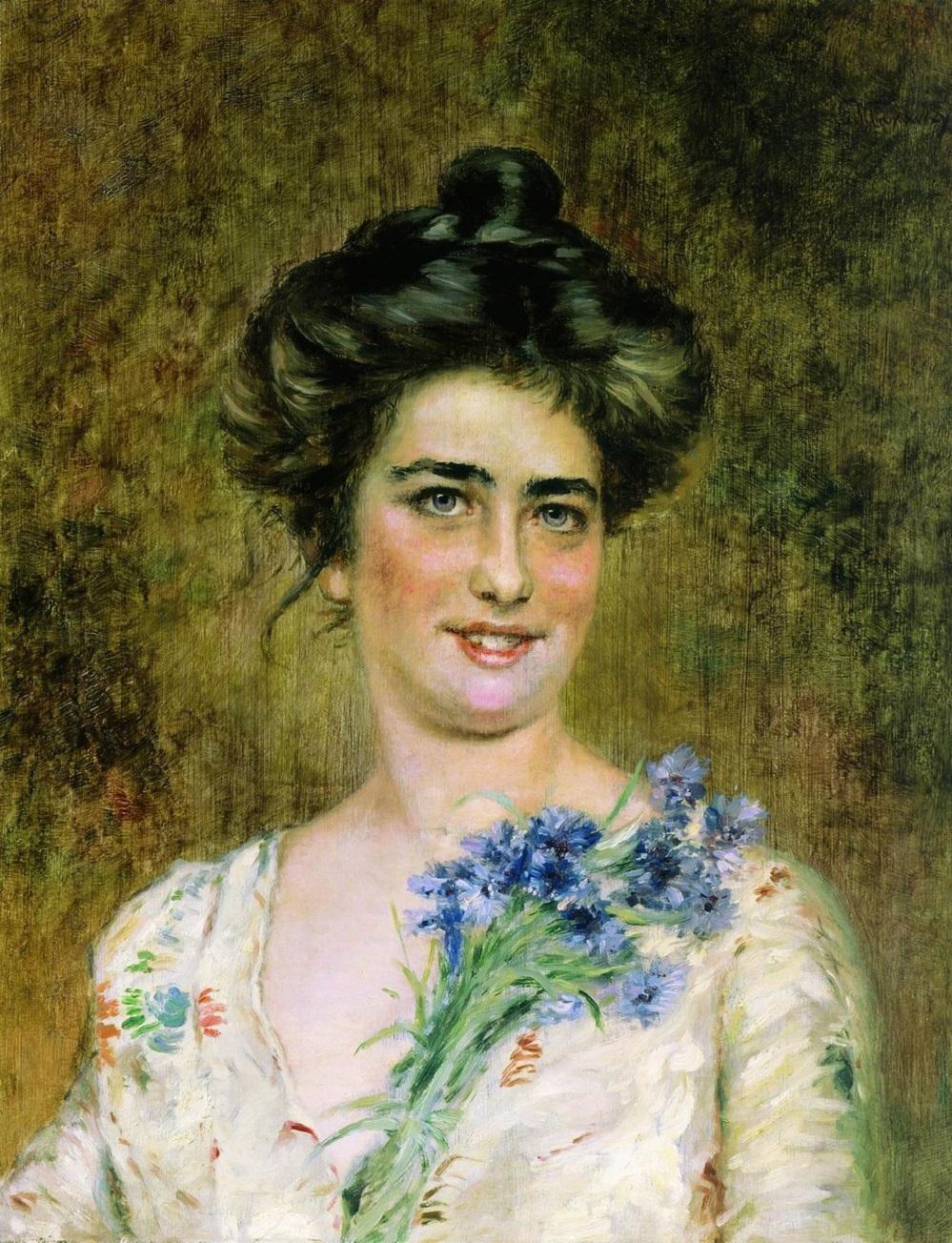 Женский портрет (Юлия Павловна Маковская). Частное собрание