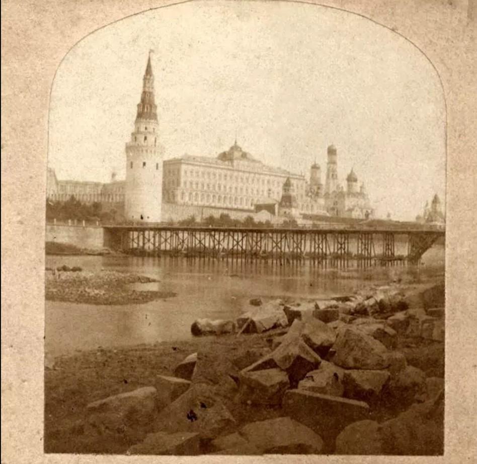 Временный мост. 1857